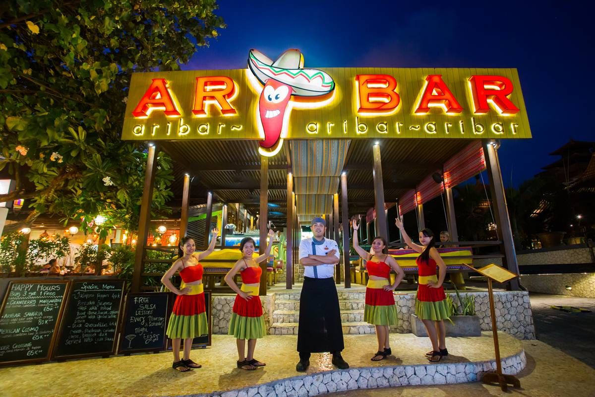 Aribar mexican restaurant bali garden beach resort a - Mexican restaurant palm beach gardens ...